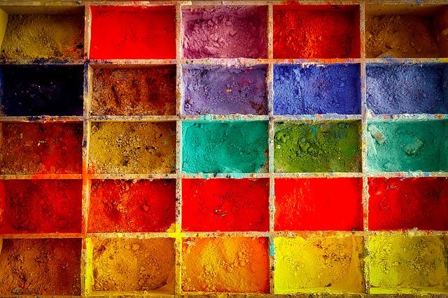 barvy v prášku
