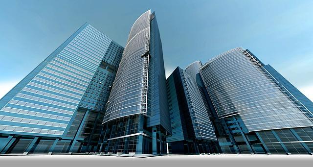 skleněné mrakodrapy