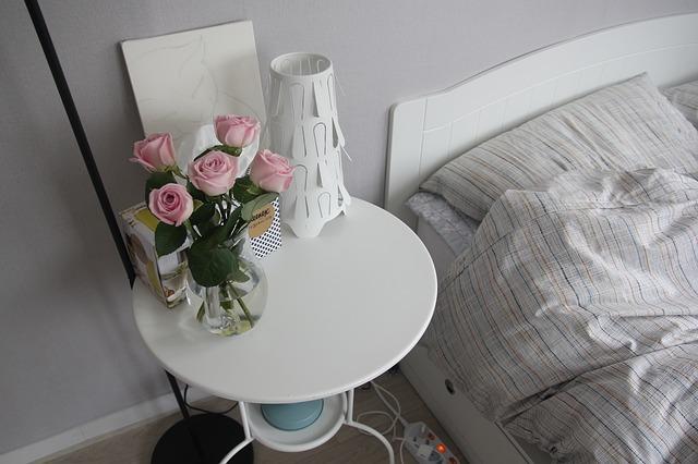 růže u postele