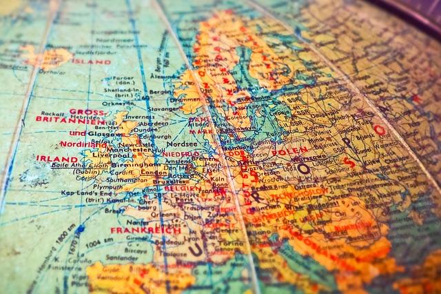 Státní společnost, státy, mapa